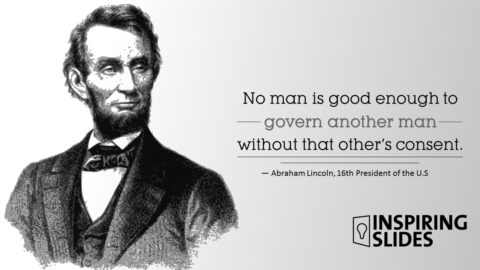 Abraham Lincoln, Slide, Template, Powerpoint Slide