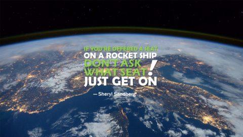 Sheryl Sandberg, Space, Slide, Powerpoint