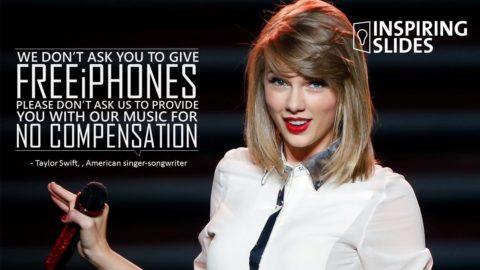 Music. Taylor Swift, Apple, Slide, Powerpoint