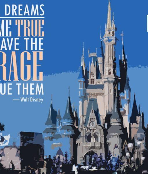 Disney, Disneyland, Pixar, Walt Disney, Roy Disney, Powerpoint, Designed Slide, Free Slide